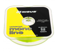Леска NISUS MONOLINE Fluorescent Yellow 0,30 мм/100 м